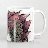 dragon Mugs featuring dragon by Erdogan Ulker
