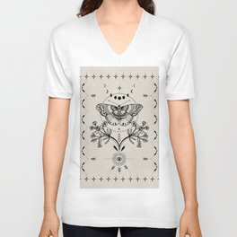 Magical Moth Unisex V-Neck