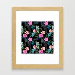 Island Goddess Tropical Black Framed Art Print