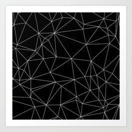 Geometric Black and White Minimalist Pattern Art Print
