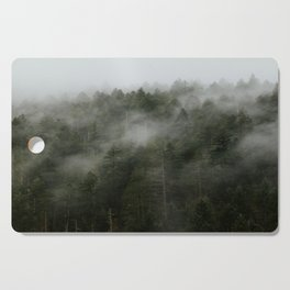 Pacific Northwest Foggy Forest Cutting Board