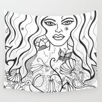 goddess Wall Tapestries featuring Goddess by Susan Sanelli Hammack
