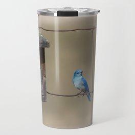 Mountain Bluebird at Home Travel Mug