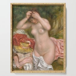 Auguste Renoir, Bather Arranging Her Hair, 1893 Serving Tray
