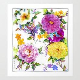 Gather Roses Art Print