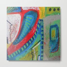 Abstract landscape - bright, eye-opening, vibrant color piece Metal Print