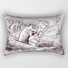 Three Dragons Rectangular Pillow