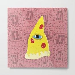 Pizzailluminati Metal Print
