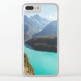 Brilliant Blue Diablo Lake Clear iPhone Case