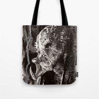 predator Tote Bags featuring Predator by Stephanie Nuzzolilo