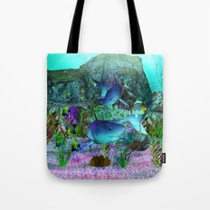 Exploration 3D Aquarium SHARKS Tote Bag
