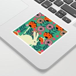 Little bunny in spring Sticker