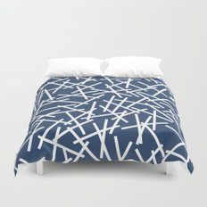 Kerplunk Navy and White Duvet Cover