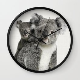 Koala Print, Australian Animal, Nursery Wall Art Decor, Koala Bear Wall Clock