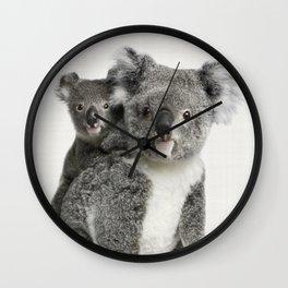 Koala Print, Australian Animal, Nursery Wall Art Decor, Koala Bear Wall Clock