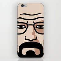 walter white iPhone & iPod Skins featuring Walter White by Joe Bidmead