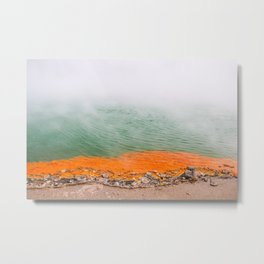 Orange Edged Metal Print