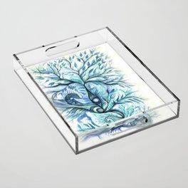Tree of Life (blues) Acrylic Tray