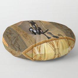 Anubis the egyptian god Floor Pillow