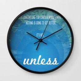Unless | Blue Wall Clock