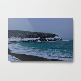 Saltwater Winter Metal Print