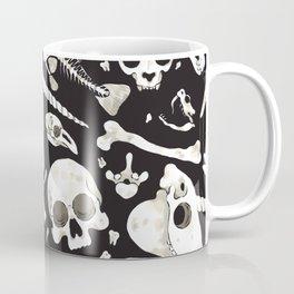 black Skulls and Bones - Wunderkammer Coffee Mug