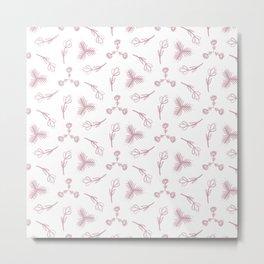 Pale pink floral garden Metal Print