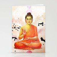 buddha Stationery Cards featuring Buddha by O. Be