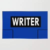writer Area & Throw Rugs featuring Castle | Writer Vest v1.0 by Sandi Panda