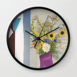Still Life of Flowers in 2018 Wall Clock