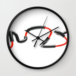 Sneaky Spline Wall Clock
