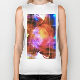 """Figure Moving Through Space"" Biker Tank"