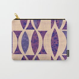 Seventies violet Pattern Carry-All Pouch