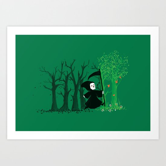 The hills WERE alive Art Print