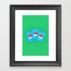 Pokémon Cards Framed Art Print