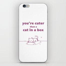 Cat in a Box iPhone Skin