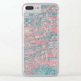 Circuitry Details 2 Clear iPhone Case