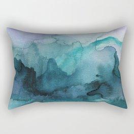Dream away abstract watercolor Rectangular Pillow