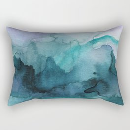 Dream away abstract watercolor Rectangular Pillow