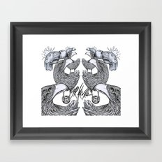 vultures and crows Framed Art Print