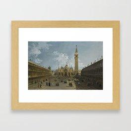 Bernardo Bellotto VENICE 1722 - 1780   VENICE, PIAZZA SAN MARCO LOOKING EAST TOWARDS THE BASILICA Framed Art Print