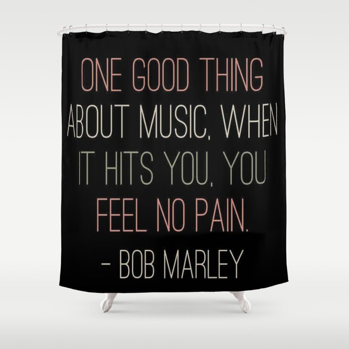 Music Shower Curtain By Ldor