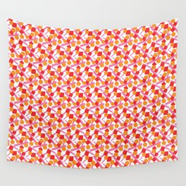 CONFETTI SCATTER RED ORANGE PINK Wall Tapestry