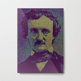 Edgar Allan Poe. Metal Print