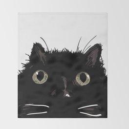 The Black Cat Bijou Throw Blanket