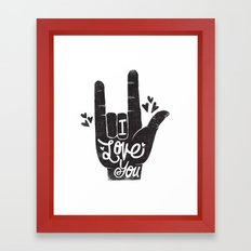 LOVING HAND Framed Art Print