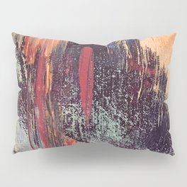 Night and Day: pretty abstract piece in orange, purple, and blues Pillow Sham