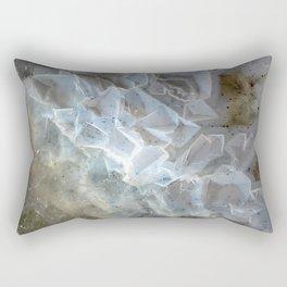 Crystal agate extreme closeup 0635 Rectangular Pillow