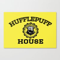 hufflepuff Canvas Prints featuring Hufflepuff Pride by Jonathan Knight