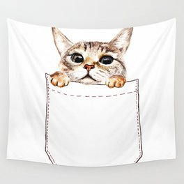 Pocket cat Wall Tapestry